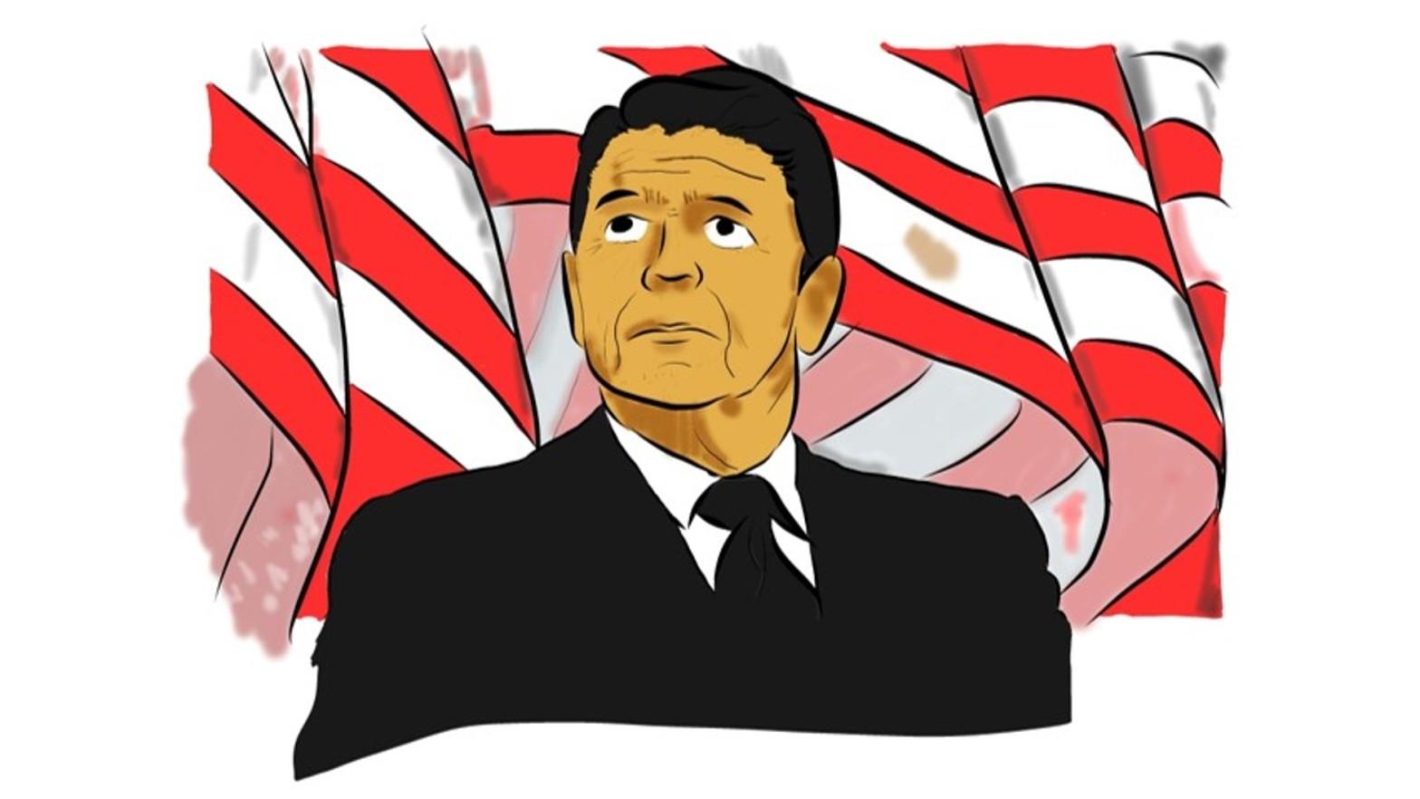 Reagan y el Challenger.